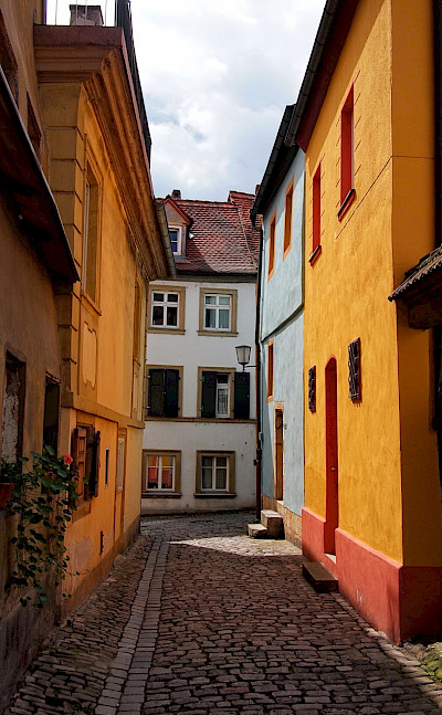 Cobblestone streets in Bamberg, Upper Franconia, Germany. Flickr:Mos