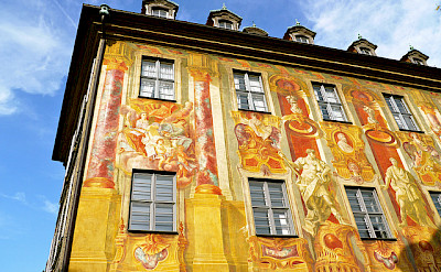 Beautiful frescos on Bamberg's Rathaus, the Old City Hall. Flickr:ResidentonEarth