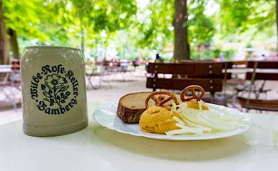 Wilde Rose Beer Garden in Bamberg, Upper Franconia, Germany. Flickr:Johannes Schwanbeck