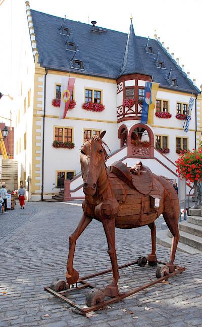 Town Hall in Volkach, Germany. Flickr:Matthias Zepper
