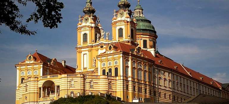 Melk Abbey, a Baroque Benedictine Monastery, Lower Austria. Photo courtesy of Austrian National Tourist Office