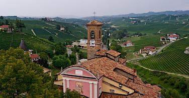 Vineyards abound in the Piedmont region. Barolo, Italy. Photo via Flickr:Megan Cole
