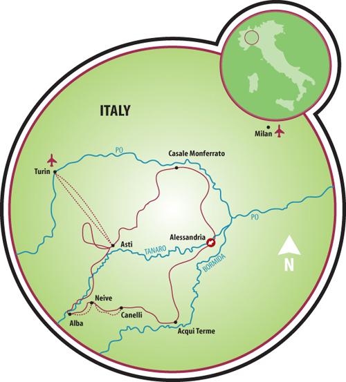 Piedmont Bike Tour Italy Tripsite