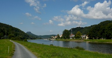 Biking along the river in Bad Schandau. Photo via Flickr:augustustours