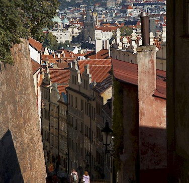 Prague has many cobbled, quiet streets to get lost in. Photo by Patrick Hickey