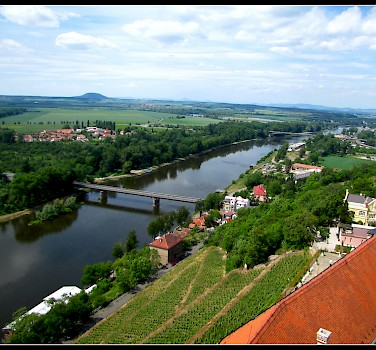 Melnik at the confluence of the Labe and Vltava Rivers in the Czech Republic. Photo via Flickr:Ondrej Pospisil