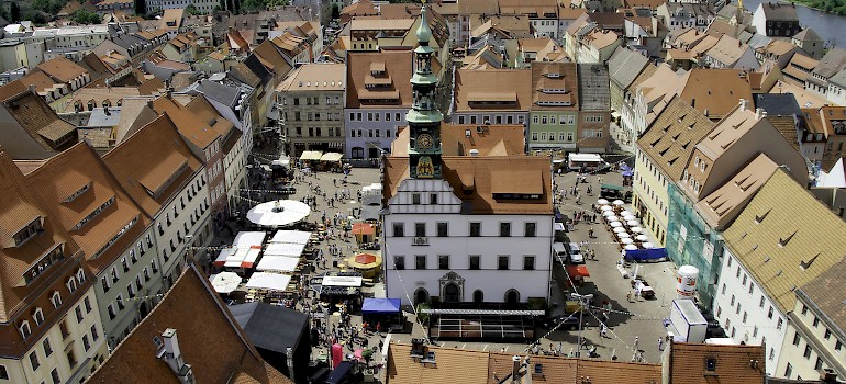 Market Square in Pirna, Germany. Photo via Flickr:Veit Schagow