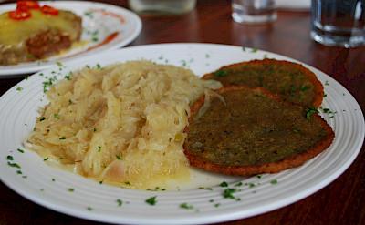 Bramborak, potato pancakes, in Czech Republic. Flickr:Alpha