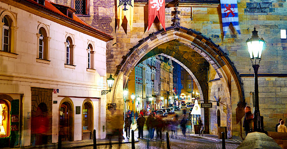 City gate in Prague, Czech Republic. Flickr:Moyan Brenn