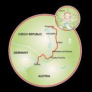 Prague to Passau Map