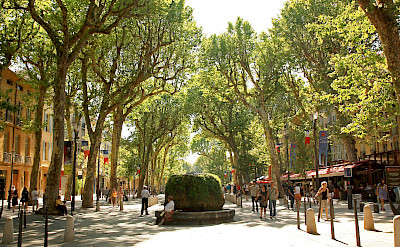Biking through Aix-en-Provence, France. Flickr:Andrea Schaffer