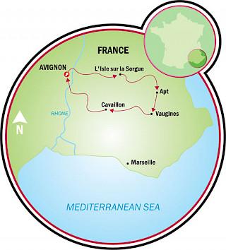 Viaje a Provenza – Luberon Map