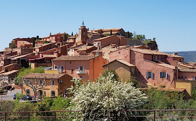 The characteristic red roofs of the Provence region. Flickr:Luca Disint