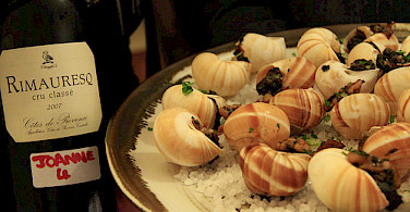 Escargot with wine in Provence! Photo via Flickr:Matt Ryall