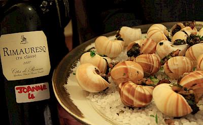 Escargot with wine in Provence! Photo via Flickr:Matt Ryall