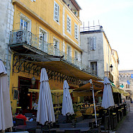The cafe in Arles that van Gogh so famously painted. Flickr:Andy Hay