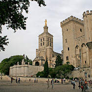 Palais des Papes on Place du Palais in Avignon, France. Flickr:Axel Brocke
