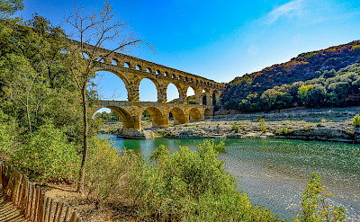A UNESCO World Heritage Site, the famous Pont du Gard in Provence, France.