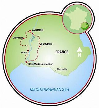Provence - Van Gogh Map
