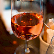 Rose wine - popular in the Provence. Wikimedia Commons:Ashley Pomeroy