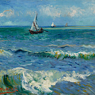 Van Gogh seascape near Les Saintes-Maries-de-la-Mer, France.