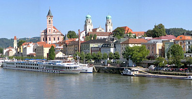 Ship anchored in Passau in Lower Bavaria, Germany. Photo via Wikimedia Commons:Aconcague