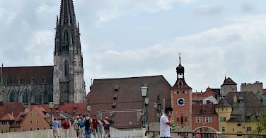 Gorgeous Cathedral in Regensburg, Germany. Photo via Flickr:Reisender1701