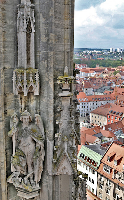 View from Dom in Regensburg, Germany. Photo via Flickr:Thomas Kraus