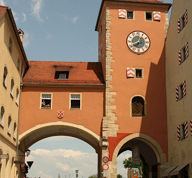 Entrance gate into Regensburg in Bavaria, Germany. Photo via Flickr:Matthew Black