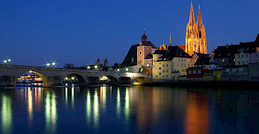 Stone Bridge in Regensburg, Germany. Photo via Wikimedia Commons:Sharhues-PublicDomain