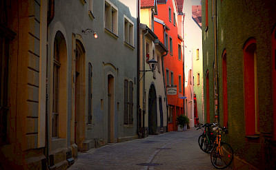 Biking the streets of Regensburg, Germany. Photo via Flickr:Stefan Jurca