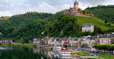 Cochem is a train ride from Remagen, Germany. Wikimedia Commons:Kaipilger