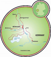 Remagen - Vale do Reno Mapa