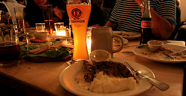 Typical German dinner. Photo via Flickr:Gabriel Saldana