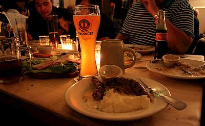 Typical German dinner. Photo via Flickr:Gabriel Saldana