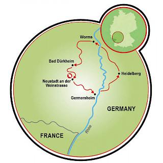 Rhine Romance Map