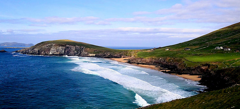Dunmore Head, the westernmost point of Ireland (islands excluded) on the Dingle Peninsula. Photo via Wikimedia Commons:Bjorn Christian Torrissen
