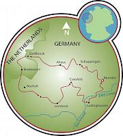 Road of 100 Castles - Münsterland Map