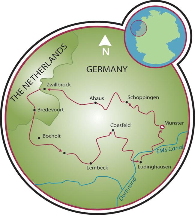 Road Of 100 Castles Munsterland Bike Tour Germany Netherlands