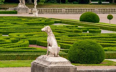 Elaborate gardens in Castle Nordkirchen in Münsterland, Germany. Flickr:Allan Harris