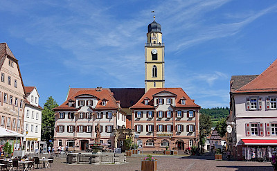Marktplatz in Bad Mergentheim, Germany. CC:HubiB