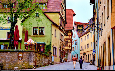 Rothenburg ob der Tauber, Franconia region of Bavaria, Germany. CC:Moyan Brenn