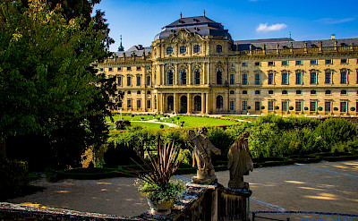 Furstbischhofliche Residenz in Würzburg on the Main River, northern Bavaria, Germany. CC:Heribert Pohl