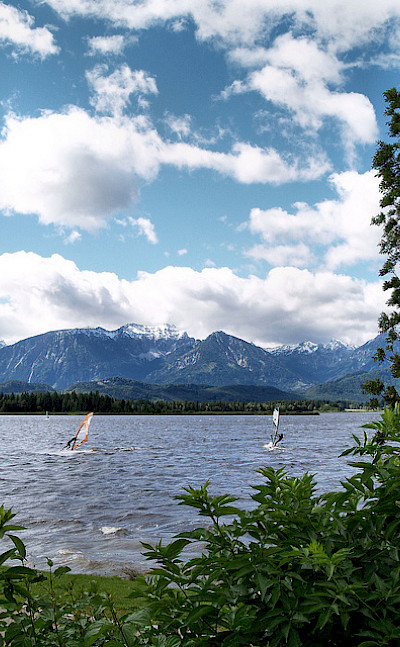 Mountains above Lake Hopfensee in Fussen, Germany. Photo via Flickr:Chrissy Olson