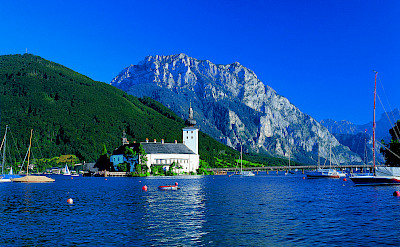 Schloss Ort on Traunsee. Photo via Austrian National Tourist Office