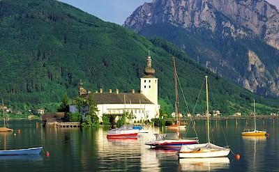 Schloss Ort on Traunsee in Salzkammergut, Austria. Salzburg, Austria. Photo via TO© Oberösterreich Tourristik