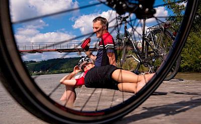 Cycling through Austria. Photo via TO:©OÖT