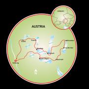 Salzburg & the 7 Lakes Map