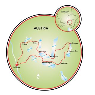 Salzburg and the 7 Lakes Map