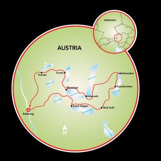 Salzburg and the 7 Lakes Map